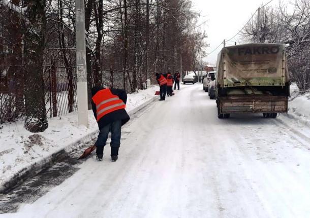 В Красногорске круглосуточно убирают дороги