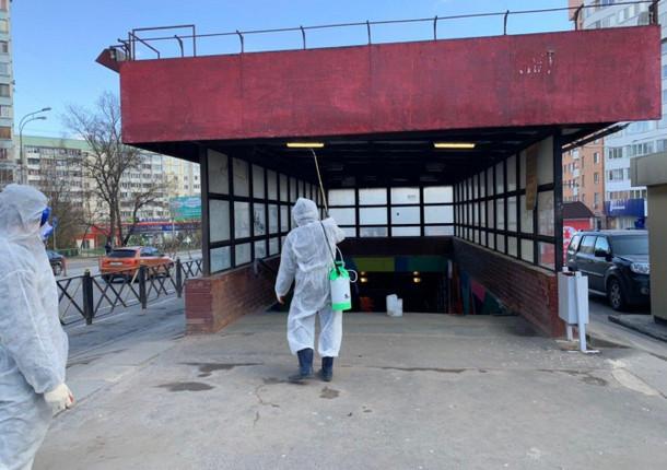 Еще 73 километра улиц было продезинфицировано в Красногорске