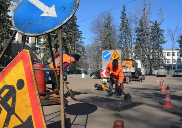 В Красногорске весной закончат ямочный реомнт